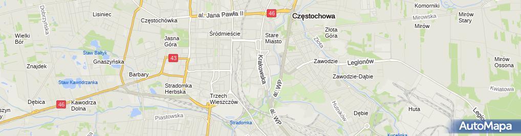 Zdjęcie satelitarne Automobilklub Częstochowski