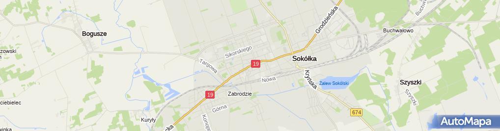 Zdjęcie satelitarne Autonaprawa Wojciech Sieniucz