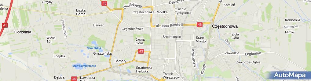 Zdjęcie satelitarne Autoryzowany Dystrybutor Tupperware Region Częstochowa