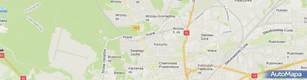 Zdjęcie satelitarne Awangarda Komor Leszek Komor Zbigniew