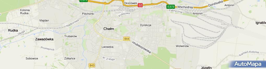 Zdjęcie satelitarne Azymut Usługi Geodezyjne i Kartograficzne Łukasz Sereda