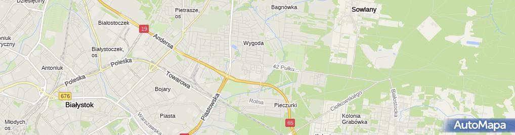 Zdjęcie satelitarne B & B Bartosz Kostro - Wspólnik Spółki Cywilnej