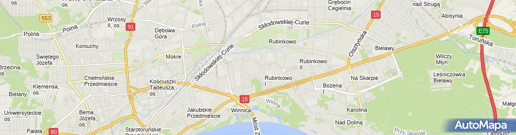 Zdjęcie satelitarne Babski Zygmunt Marbyt Firma Wielobranżowa