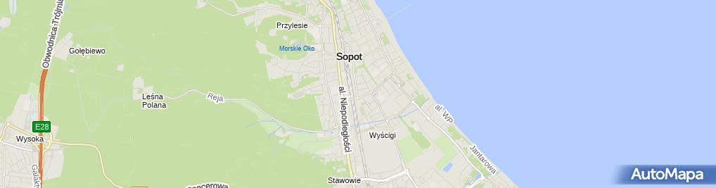 Zdjęcie satelitarne Bałtycka Agencja Artystyczna