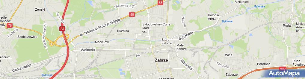 Zdjęcie satelitarne Bar Beczka
