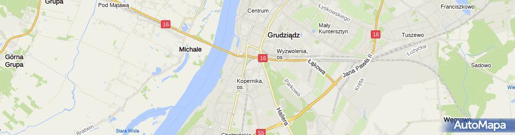 Zdjęcie satelitarne Bar Zacisze Nowacki Ireneusz Nowacka Ewa