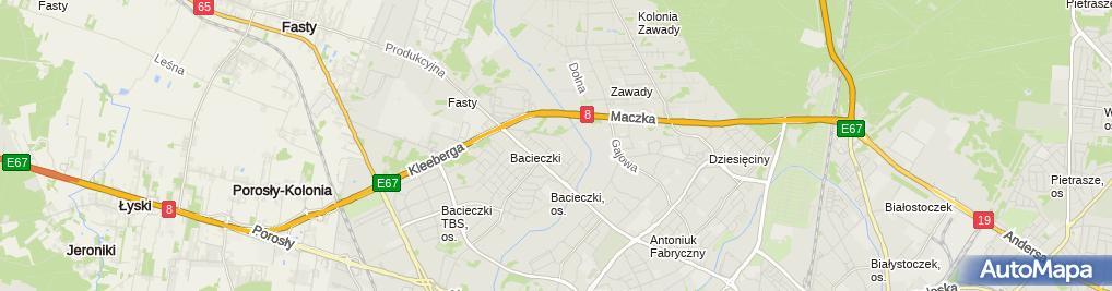 Zdjęcie satelitarne Barbara Kużel - Działalność Gospodarcza