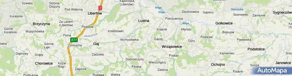 Zdjęcie satelitarne Barbara Szydłowska Attractive