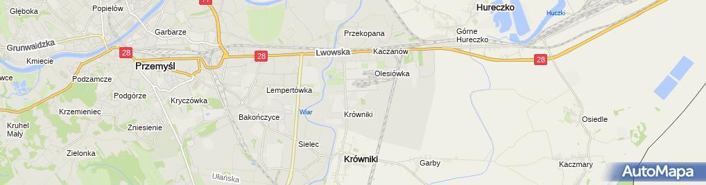 Zdjęcie satelitarne Bartłomiej Król Przedsiębiorstwo Handlowo-Usługowe Axa