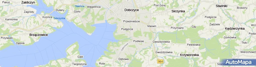 Zdjęcie satelitarne Bartłomiej Leśniak Biuro Usług Turystycznych Cracow City Tour 2