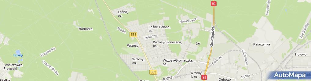 Zdjęcie satelitarne Bassak Jarosław Jarbass Firma Usługowo Handlowa