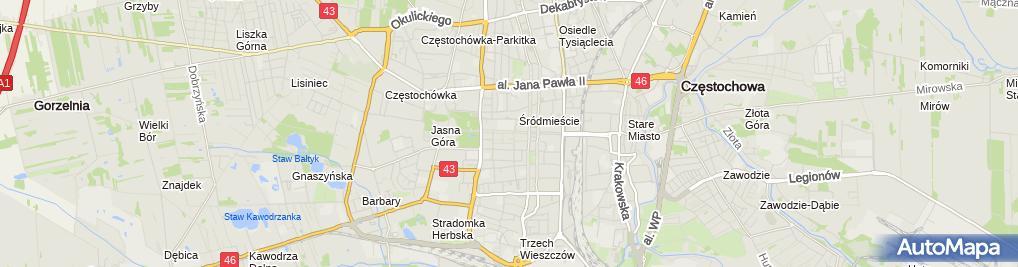 Zdjęcie satelitarne Beata Kucharska Stajnia Biały Borek Beata Kucharska Krzysztof Bociąga