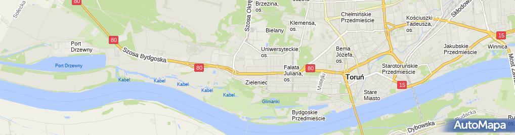 Zdjęcie satelitarne Bednarek Wojciech Usługi Instalacyjne Centralnego Ogrzewania, Wodno Kanalizacyjne.