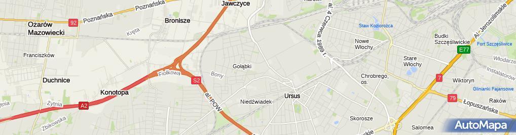 Zdjęcie satelitarne Bezpieczna Praca