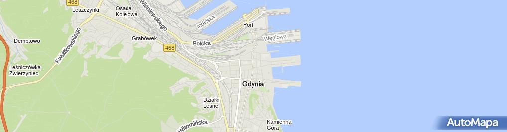 Zdjęcie satelitarne Białe Piaski Aleksandra Bonca Indywidualna Praktyka Lekarska Lek.Dent.Aleksandra Bonca