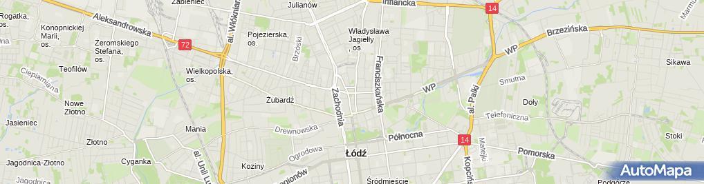 Zdjęcie satelitarne Bieliźniarstwo-Gorseciarstwo Czesława Dembowska