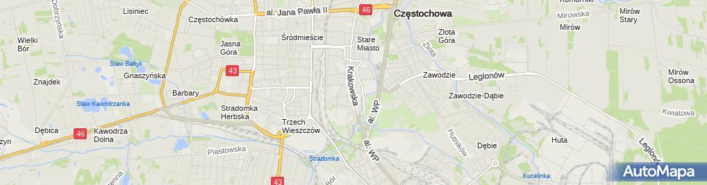 Zdjęcie satelitarne BIG DUO Informacja Gospodarcza S C w Srokosz A Czank
