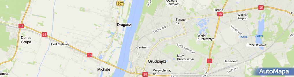 Zdjęcie satelitarne Biuro Doradztwa Prawnego Małgorzata Szałkowska