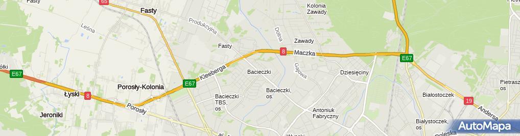 Zdjęcie satelitarne Biuro Ekspertyz Doradca Techniczny Krzysztof Lenczewski
