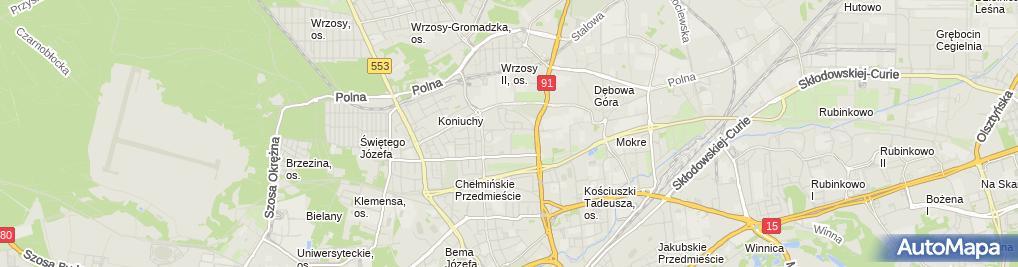 Zdjęcie satelitarne Biuro Nieruchomości Geotax