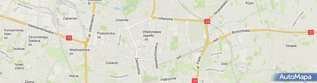 Zdjęcie satelitarne Biuro Ochr Mienia Osób i Usług Detekt Trop C Miller A Staliński T Sejda