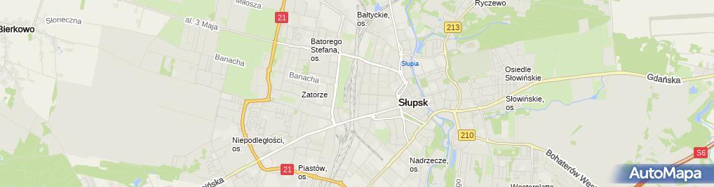 """Zdjęcie satelitarne Biuro Podróży """"Wodnik"""" Dorota Żelazny"""