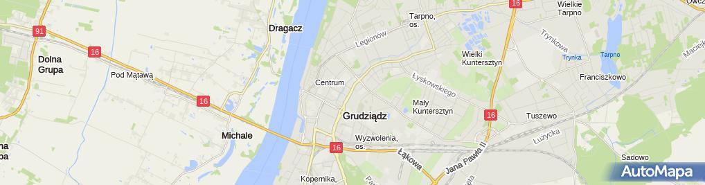 Zdjęcie satelitarne Biuro Prawno Windykacyjne Paragraf Joanna Piątkowska Ewa Szymerowska