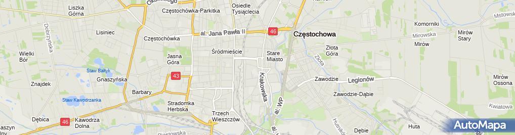 Zdjęcie satelitarne Biuro Projektowo Handlowo Usługowe