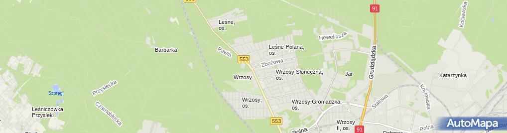 Zdjęcie satelitarne Biuro Turystyki Produkcji i Handlu Kometa Zbigniew Zielski