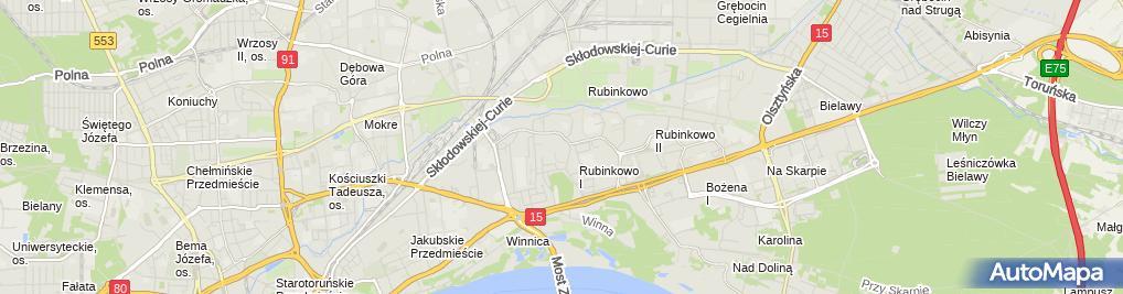 Zdjęcie satelitarne Biuro Usług Finansowo Handlowych Golfin Golec Zbigniew
