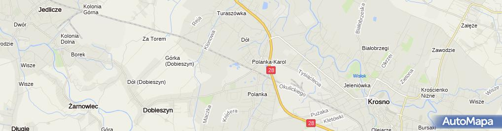 Zdjęcie satelitarne Biuro Usług Inwentyaryzacyjnych Inwent Krosno
