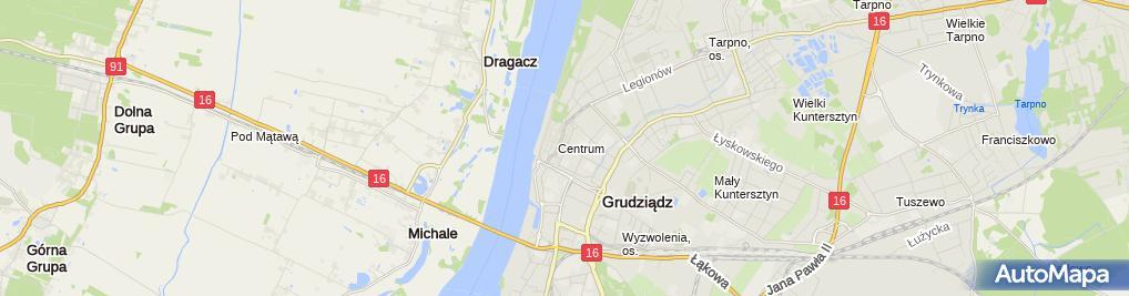 Zdjęcie satelitarne Biuro Usług Turystycznych Lech Jakubowski