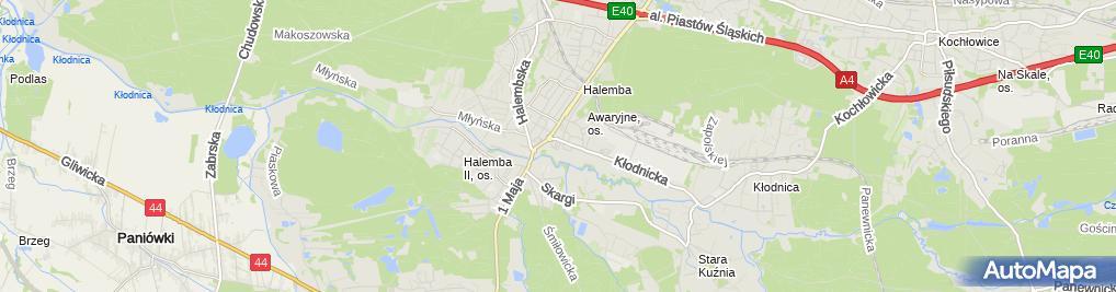 Zdjęcie satelitarne Biuro Usług Ubezpieczeniowych Pio Ma