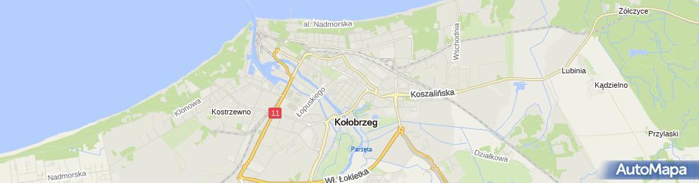 Zdjęcie satelitarne Biuro Usługowe