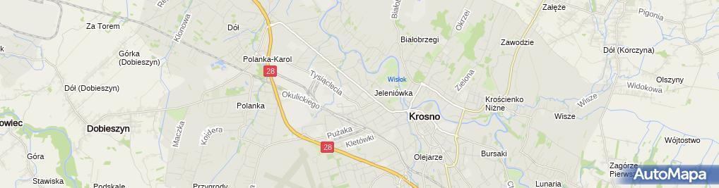 Zdjęcie satelitarne Biurotech S Łaz M Frączek