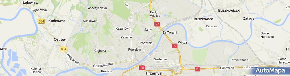 Zdjęcie satelitarne Bogusław Łazorko Firma Usługowo-Handlowa Auto-Szlif