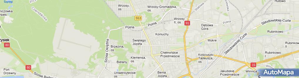 Zdjęcie satelitarne Bojanowska Krystyna Hedar Przedsiębiorstwo Handlowo Usługowe