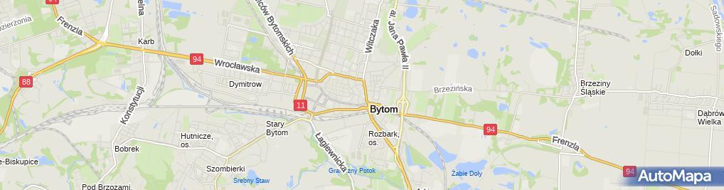 Zdjęcie satelitarne Bronisława Kuśnierz