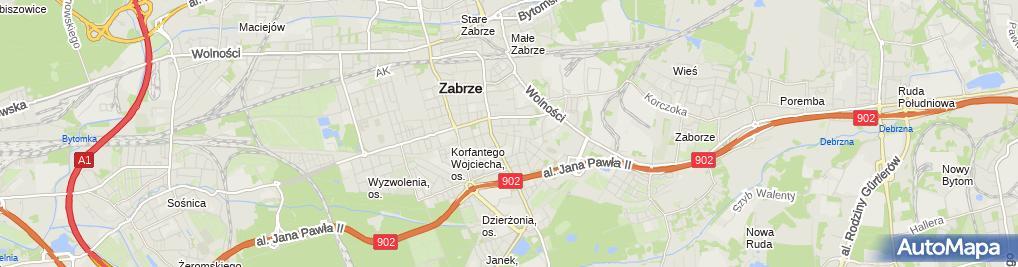 Zdjęcie satelitarne Brygida Kędzierska - Działalność Gospodarcza