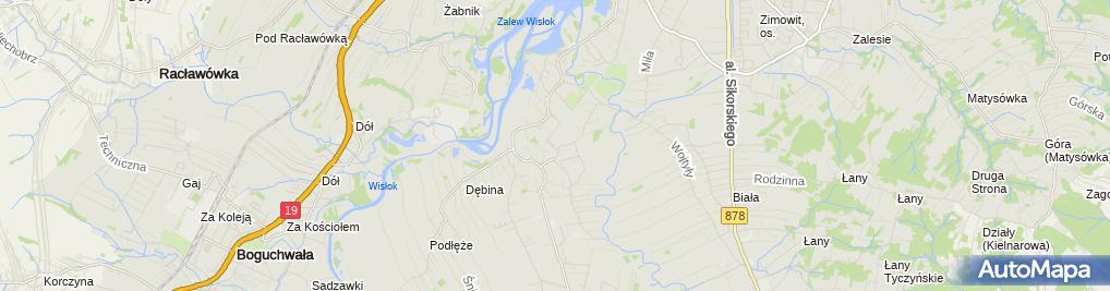 Zdjęcie satelitarne Bryk