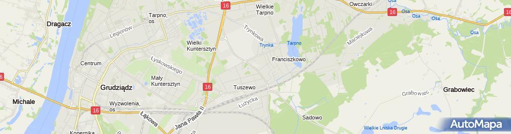 Zdjęcie satelitarne Budos Krzysztof Babiarz Piotr Sobieszczyk