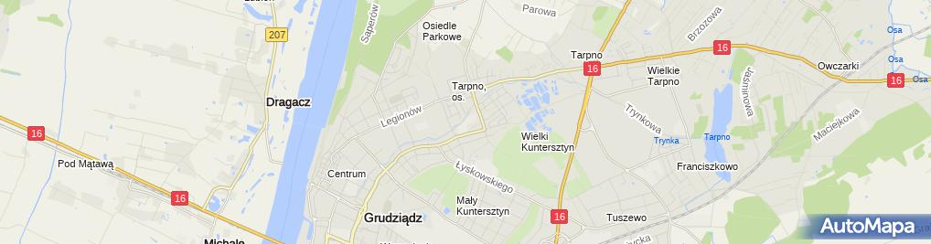 Zdjęcie satelitarne Bufet U Wojtka