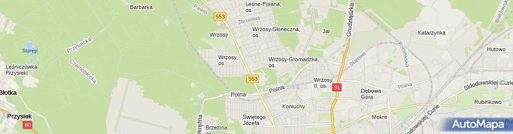 Zdjęcie satelitarne Bufet Zakładowy Spółdzielni Odrodzenie