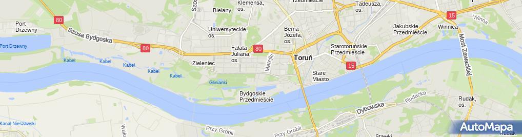 Zdjęcie satelitarne Centrum Edukacyjne Novum Toruń
