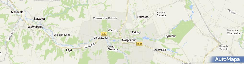 Zdjęcie satelitarne Centrum Handlowo Usługowe Domus Iwona Gromadzka Janek Eliza Janek Stanisław Mikowski