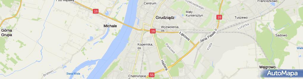 Zdjęcie satelitarne Centrum Kształcenia Praktycznego w Grudziądzu