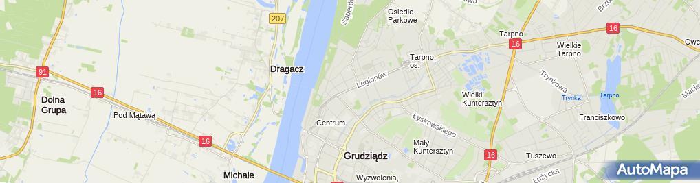 Zdjęcie satelitarne Centrum Kształcenia Ustawicznego im KS Stanisława Staszica