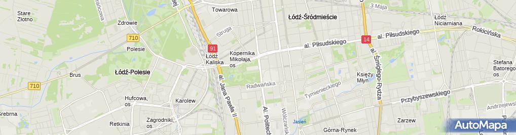 Zdjęcie satelitarne Centrum Kształcenia Ustawicznego w Łodzi