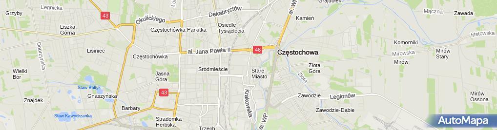 Zdjęcie satelitarne Centrum Medyczne Małgorzata