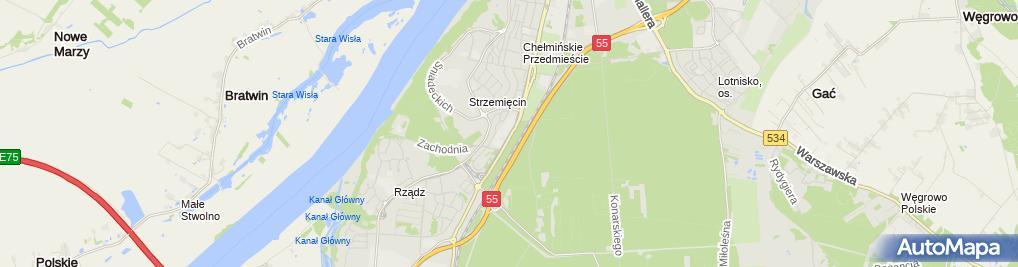 Zdjęcie satelitarne Centrum Ogrodnicze pod Strzemięcinem Katarzyna Chochołowska